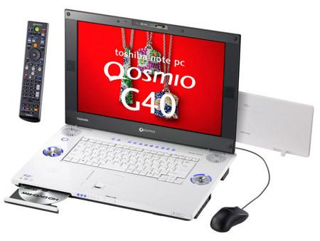 Toshiba Qosmio G40 ya incorpora unidad grabadora de HD DVD