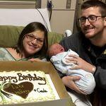El mejor regalo de cumpleaños: un bebé nació el mismo día que sus padres