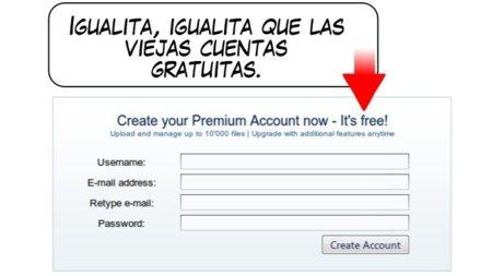 """Rapidshare: las cuentas """"premium"""" gratuitas son solo eso, gratuitas"""