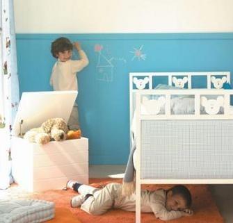 Pintura de pizarra para la habitaci n de los ni os - Pintura para habitacion de ninos ...