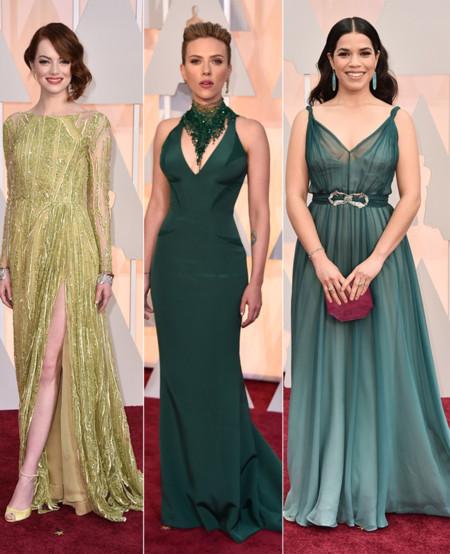 Actrices Oscar 2015 Verde