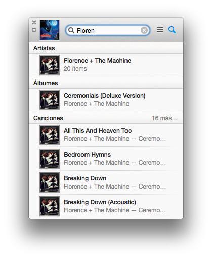 Búsqueda en iTunes 11