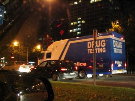 Camión británico de controles antidroga