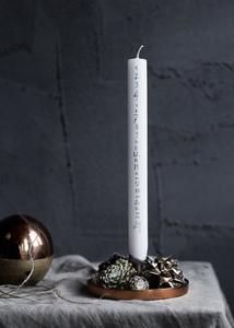 Hazlo tú mismo: la vela de adviento para la cuenta atrás