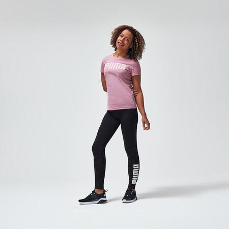 Mallas Leggings Puma Mujer Negro Con Logotipo