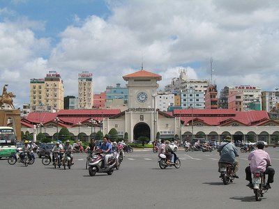 Comer en Ho Chi Minh City: el mercado de Ben Thanh