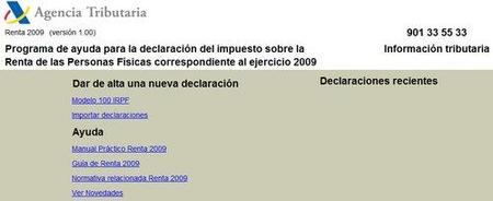 Renta 2009: comienza el plazo de presentación con un software insufrible