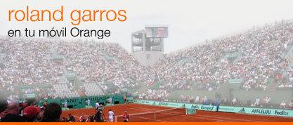 Sigue el Roland Garros en tu móvil Orange