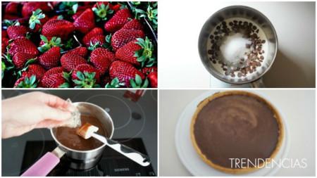 Tarta Fresas Choco Coll