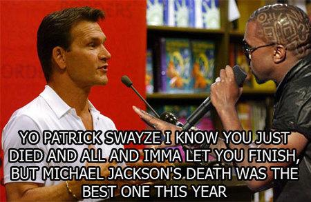 Kanye interrumpe a Patrick Swayze