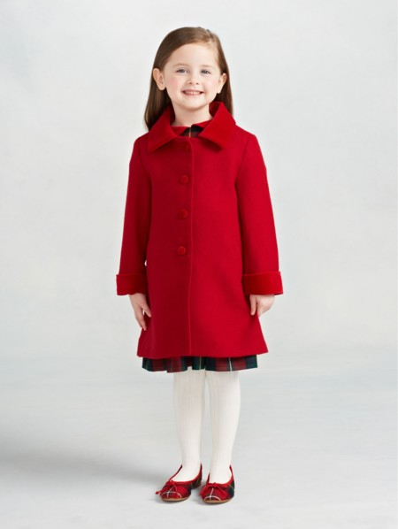 Abrigo Rojo Nina Oscar De La Renta