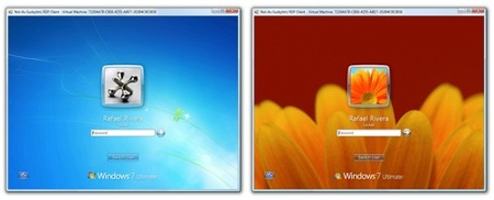 Wallpaper personalizable en pantalla de inicio de sesión