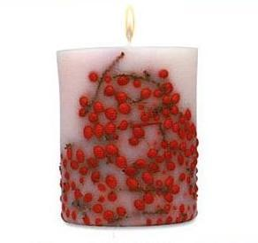 Vela floral Red Berries