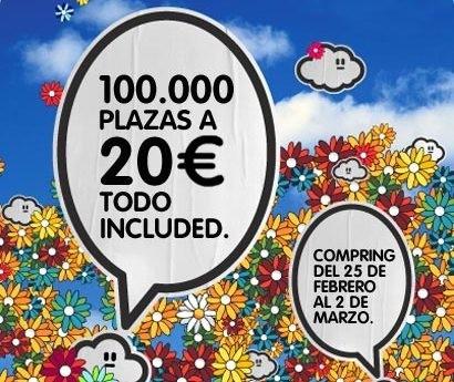 Vueling: 100,000 plazas a 20 euros todo incluido