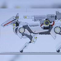 Si el Xiaomi CyberDog te parecía una locura espera a ver esto: un diseñador imagina cómo sería este robot equipado con ametralladoras y cañones