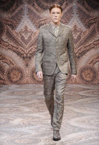 Alexander McQueen, Otoño-Invierno 2010/2011 en la Semana de la Moda de Milán, estampado