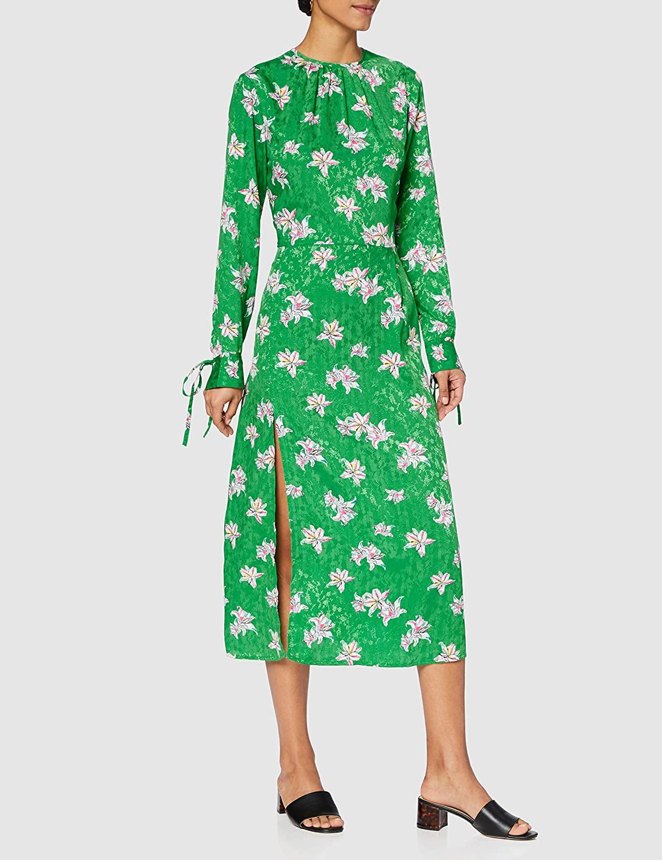 Marca Amazon - find. Vestido Midi de Flores Mujer