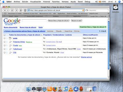 Google Docs&SpreadSheets pronto disponible para Safari