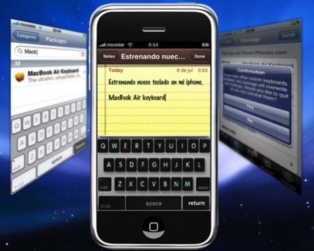 Teclado del MacBook Air en el iPhone