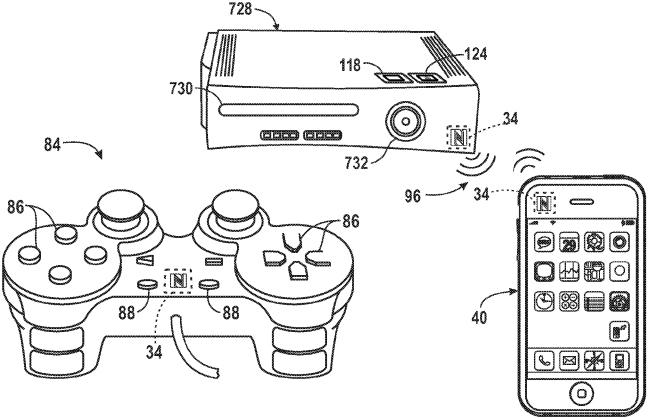 controlador de juegos en la patente de Apple