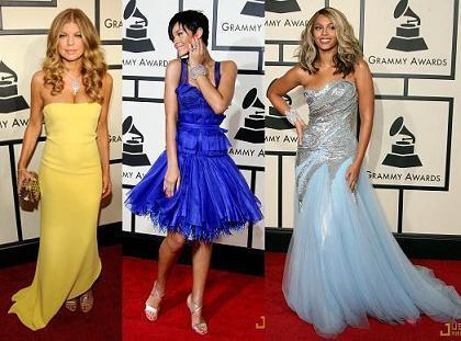 La alfombra roja de los Grammys 2008