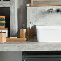 Complementos para el baño en negro, mimbre y madera; son las opciones de Habitat para el cuarto de baño el próximo otoño-invierno