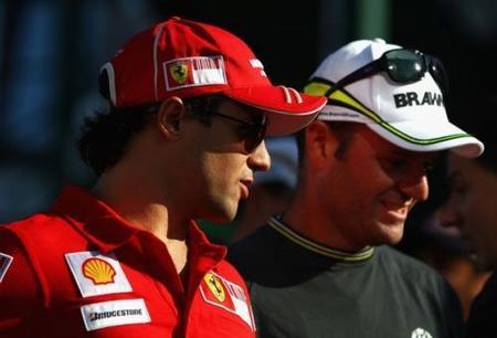 Rubens Barrichello contento con la recuperación de Felipe Massa