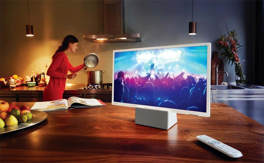 Philips 24pfs5231 un televisor con altavoz bluetooth incorporado para llevar a la cocina o el - Televisor para cocina ...