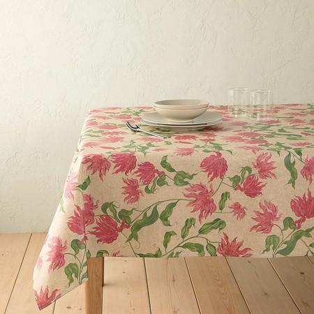 Mantel con estampado floral