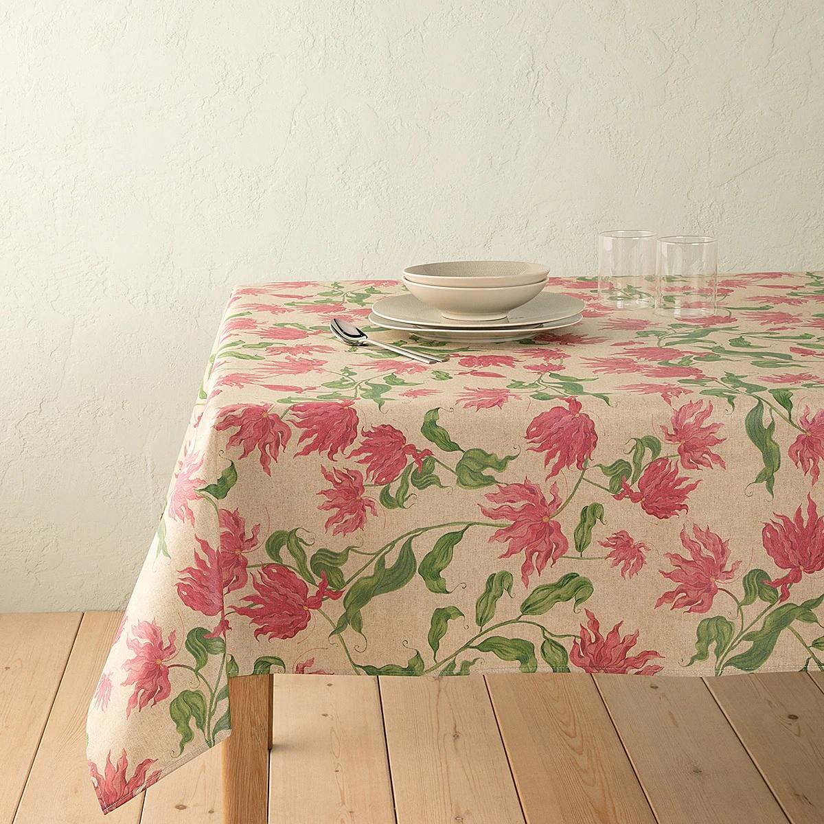 Mantel de estampado floral