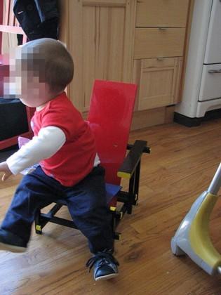 Red Blue Chair infantil y artesana