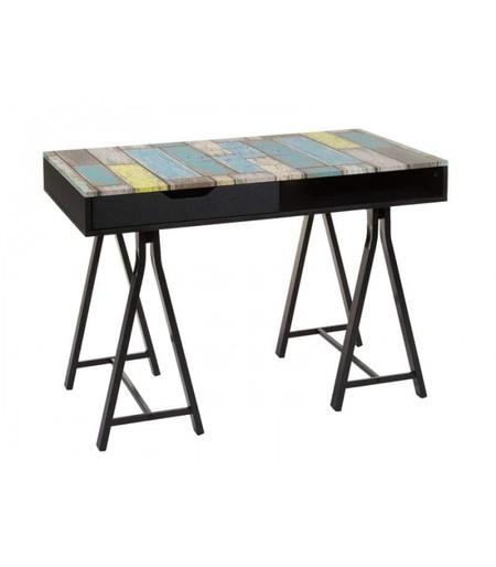 Escritorio Multicolor Moderno 110 X 60 76 Kd Home