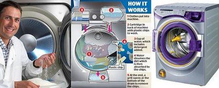 Lavadora Xeros, casi sin agua y sin casi detergentes