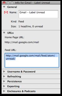 Suscríbete al RSS de tus correos no leídos de Gmail