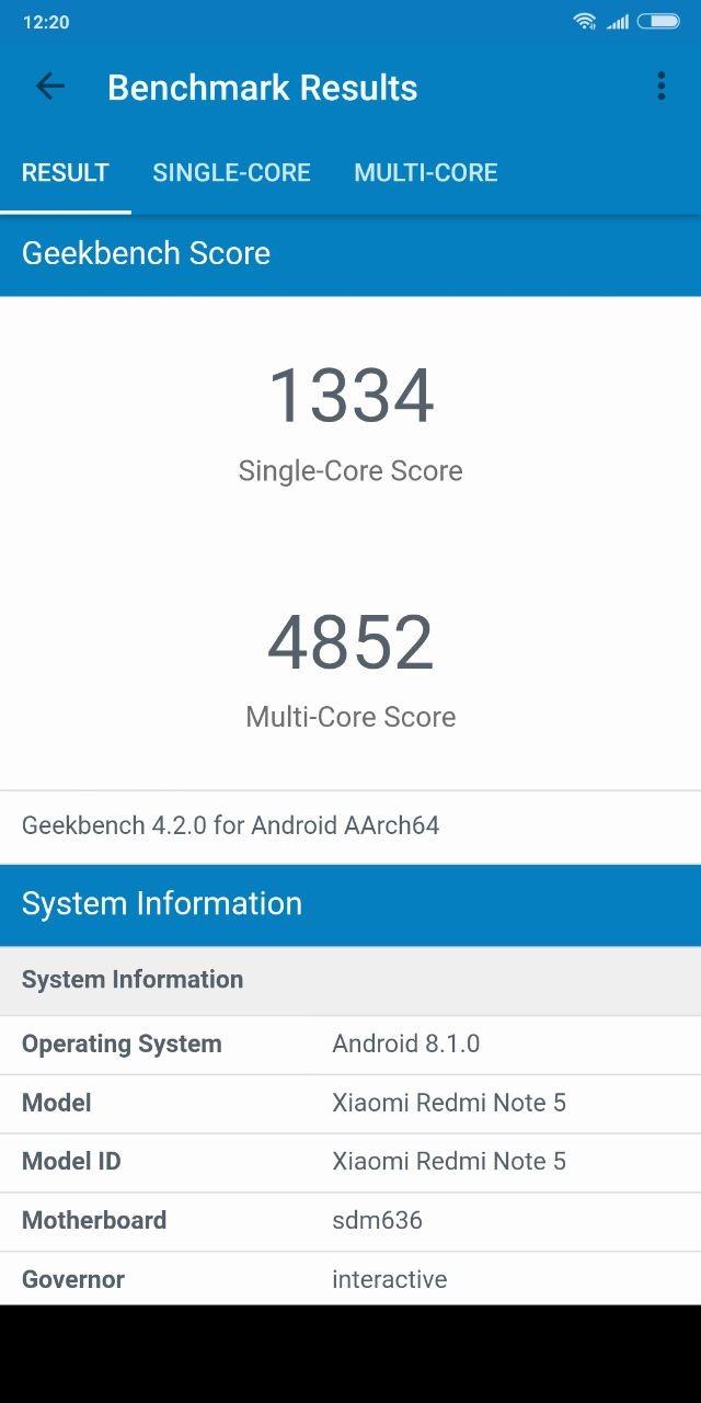 Foto de Benchmarks del Xiaomi Redmi Note 5 (3/6)