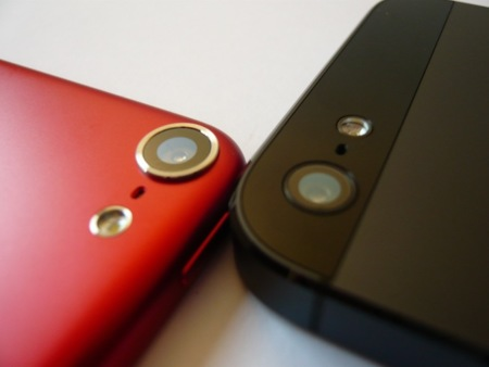 iPod touch 2012 trasera vs iPhone 5