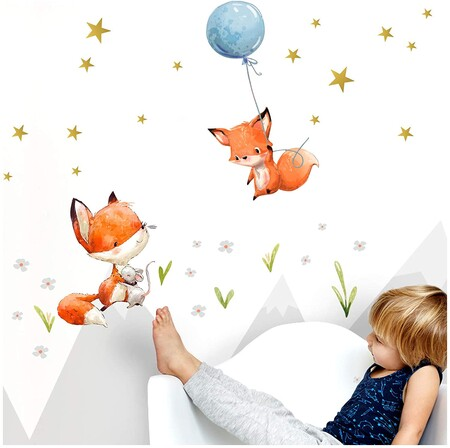 39 bonitos vinilos adhesivos para decorar las paredes de una habitación infantil