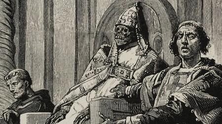 El juicio al papa Formoso, por el artista Lodovico Pogliaghi.