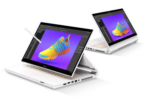 """ConceptD 7 Ezel: esta """"laptop para creativos"""" de Acer tiene dos bisagras y hasta cinco diferentes modos de uso"""