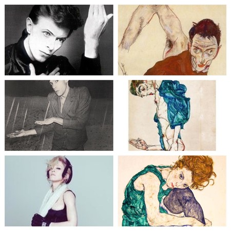 Collage de obras de Schiele