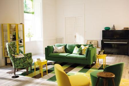 Salón colorido catálogo Ikea 2014