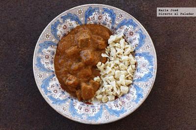 Goulash con spätzle. Receta tradicional húngara
