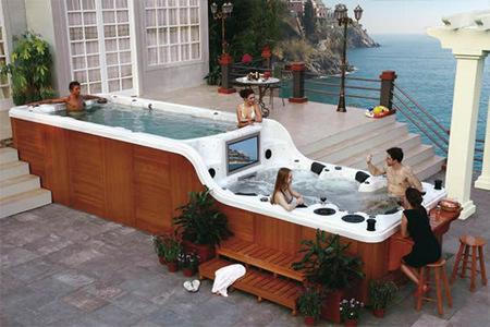 Ponga una piscina de hidromasaje de dos pisos en su vida, y nunca volverá a estar solo