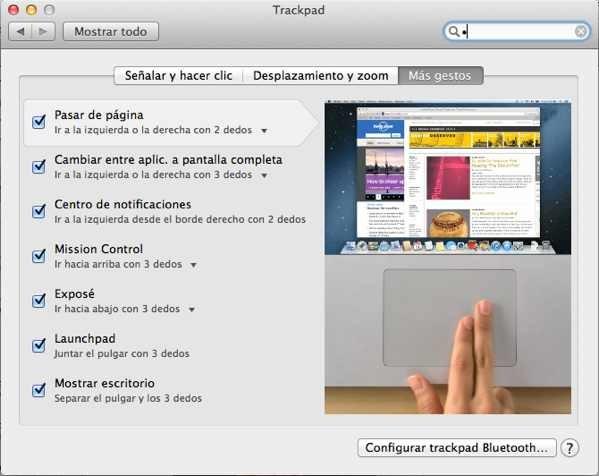 Gestos que nos hacen ser más productivos gracias al Trackpad