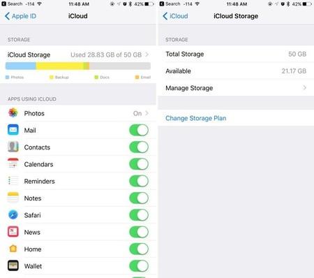 iCloud iOS 10.3