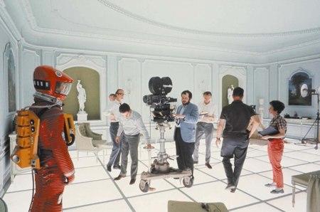 Stanley Kubrick durante el rodaje de 2001
