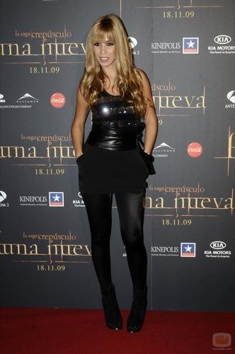Alfombra roja con famosas españolas en la premiére de Luna Nueva en Madrid, Natalia Rodríguez