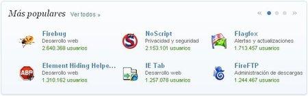 Extensiones de Firefox para desarrolladores web