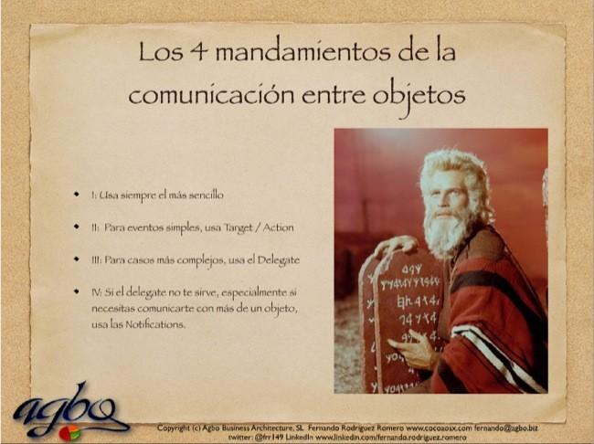 Los cuatro mandamientos de la comunicación entre objetos