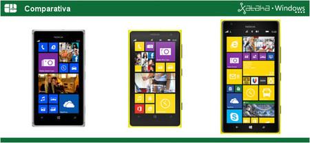 La nueva gama alta de Nokia: Lumia 925 vs. Lumia 1020 vs. Lumia 1520